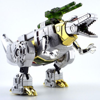 Warrior 33356 Transformation Toy Jingang 5 Wire Rope Dinosaur Manual Assembled Model Boy Robot Gift Box