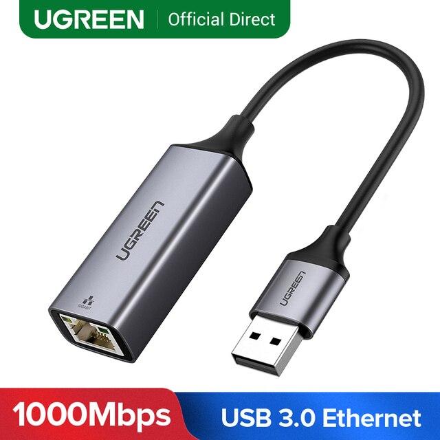 UGREEN USB 3.0 Ethernet Adapter USB 2.0 karta sieciowa do RJ45 Lan dla Windows 10 Xiaomi Mi Box 3 S przełącznik do nintendo Ethernet USB