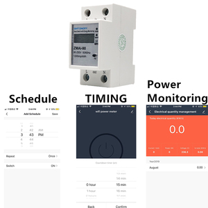 Image 2 - Alexa Compatible Tuya Smart Power Meter WiFi Power Consumption Switch Energy Monitoring Meter 110V/220V Din Rail Remote Control