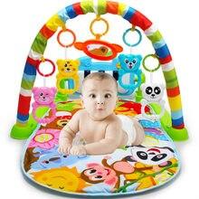 Esteira do jogo do bebê brinquedo tapete do bebê pedal piano jogar música rastejando esteira jogar colocar sentar brinquedos com animal bonito do bebê ginásio cobertor fitness quadro