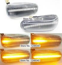 Ledแบบไดนามิกด้านข้างไฟเลี้ยวไฟสัญญาณSequential BlinkerสำหรับMercedes BENZ W202 W210 W208 R170 W124 Vito W638 LT