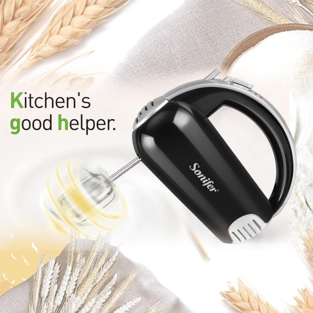 H65800ab6d1bb4431ae30b0c420c4b7c8s 5 Speeds 300W Stainless Steel Food Mixers Dough Mixer 220v High Quality Dough Blender Egg Beater Hand Mixer For Kitchen Sonifer