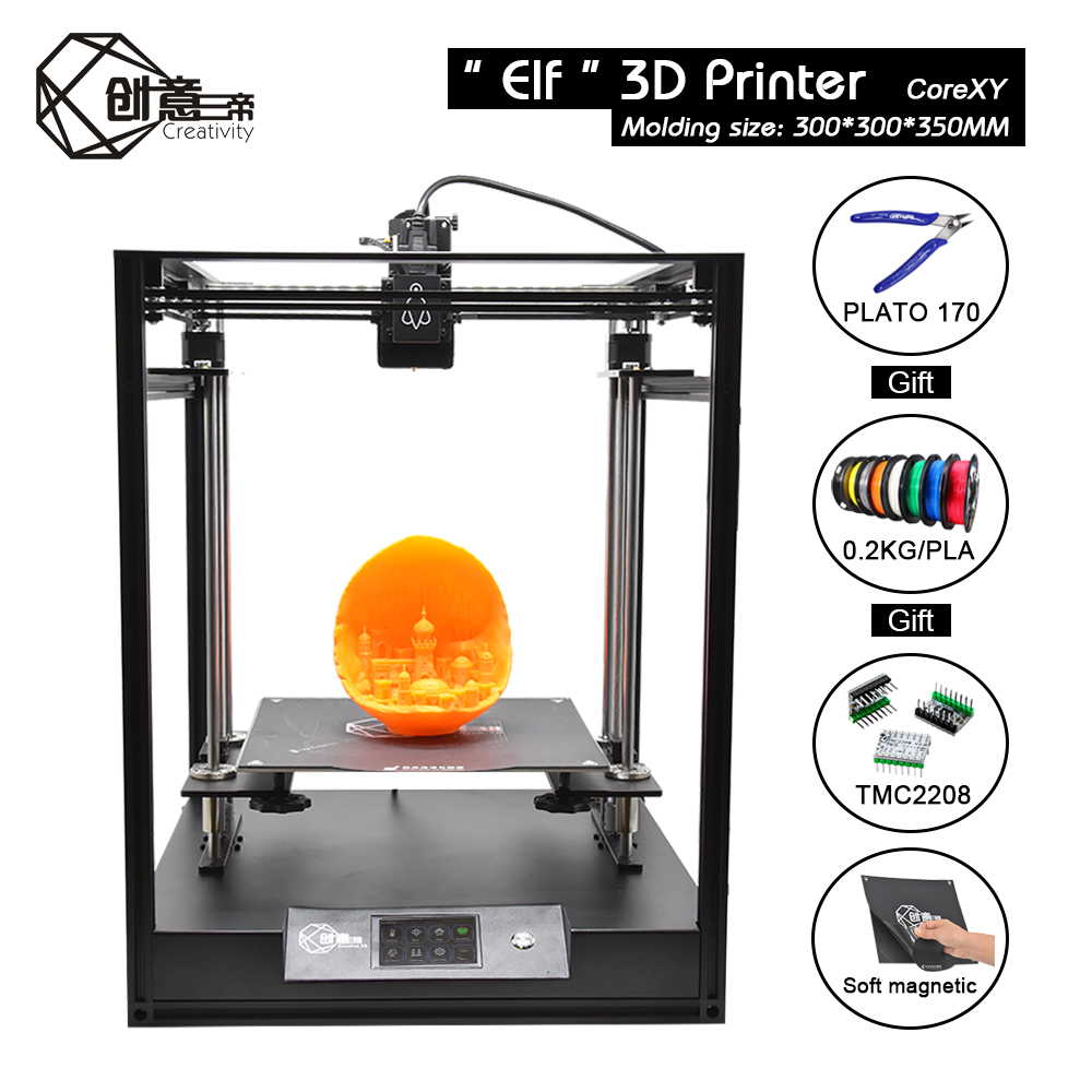 CoreXY structure remote Elf 3D printer, high precision aluminum profile kit, double Z axis, support BL-touch auto leveling title=