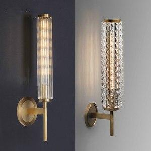 Barra salão de beleza retro bronze luz de parede lâmpada de parede de cobre do vintage luxo sala de estar vidro arandela espelho do banheiro luz 220-240 v