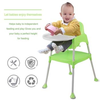 цена на 3 In 1 Baby High Chair Convertible Table Seat Booster Toddler Feeding Highchair Multifunctional Baby Chair Kid Dining Chair