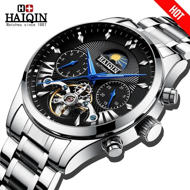 HAIQIN mens/mens watches top brand luxury automatic/mechanical/luxury watch men sport wristwatch mens reloj hombre tourbillon