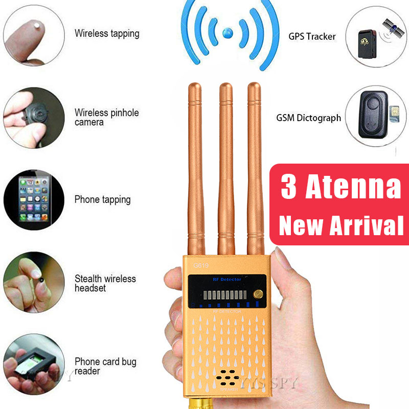 3 Antenna Professional Anti Spy Detector RF CDMA Signal Finder For GSM Bug GPS Tracker Wireless Hidden Camera Eavesdropping