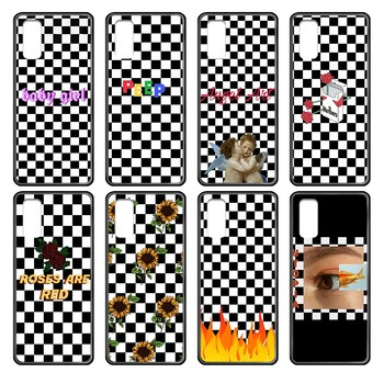 Black and white chess board cover black Phone case cover hull For Samsung Galaxy J S 3 4 5 6 7 8 9 10 Prime Plus Lite Edge image