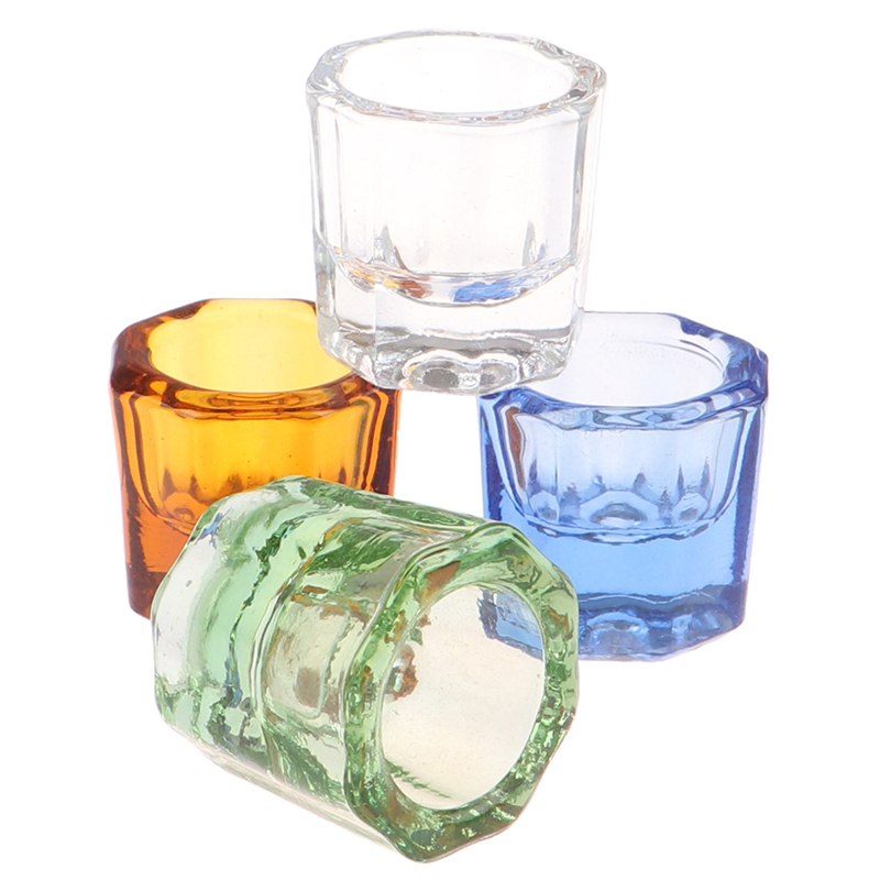 Dentistry Mixing Bowls Glass Dish Household Octagonal Cups Reconcile Cup For Dental Lab
