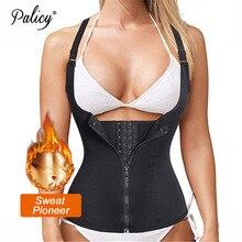 Palicy נשים מעצבי Neoprene גוף Shaper הרזיה מותניים מאמן מחוך לירידה במשקל סאונה חמה זיעה גוזם אפוד צורת ללבוש