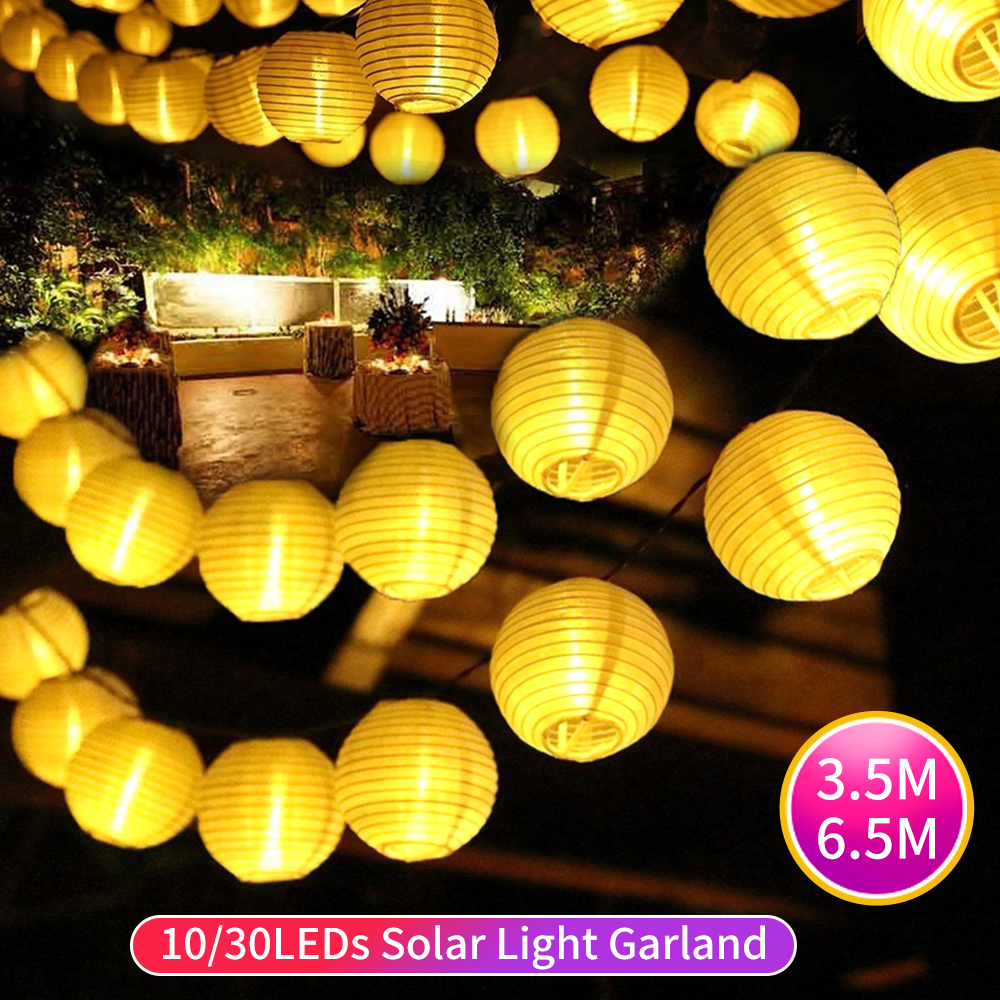 10 30LEDs Solar Lamp Lantern Led Solar Garden Light Garland Holiday Party Wedding Decor Solar String Lights Outdoor Fairy Light