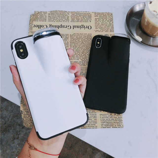 Fashion New design 2in1 phone case For iPhone 11 Pro Max XS Max XR 7 8 6 6S Plus Hard cover with Earphone case For AirPods Case 2