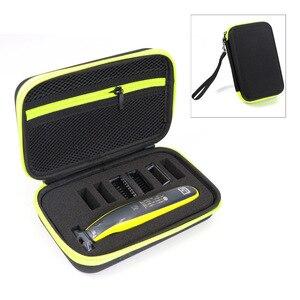 Image 2 - 필립스 용 휴대용 케이스 OneBlade 트리머 면도기 및 액세서리 EVA 여행용 가방 보관함 상자 면도기 전용 케이스 없음
