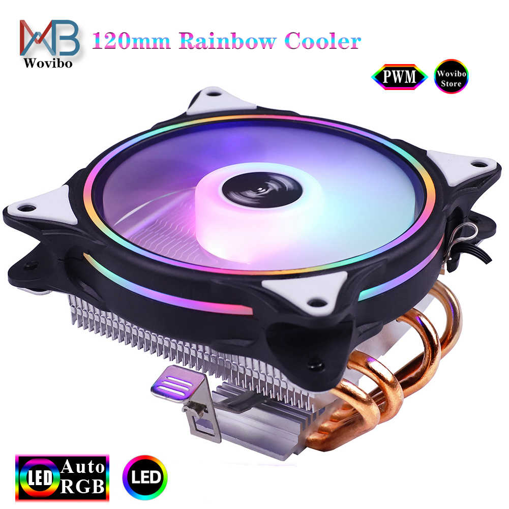 4 heatpipes CPU radyatör soğutucu 120mm 90mm RGB düşük profil fan 3PIN 4PIN LGA 775 1156 1155 115x1366 2011 X79 X99 AMD AM4 CPU