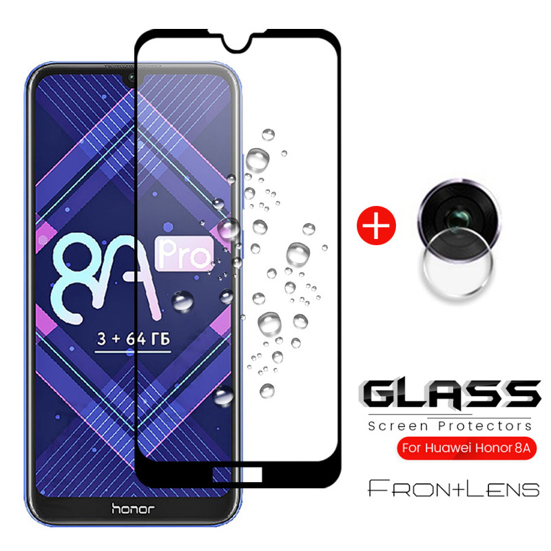2-in-1 Camera Glass For Honor 8a Prime Glass Protective For Huawei Honor8a Honor 8a Pro 8apro 8aprime Screenprotector Film Cover