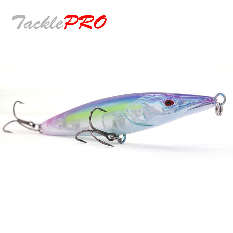 TacklePRO PE22 topwater StickBait Wobblers Lure 110mm 16g Long Casting Pencil Floating Hard Fishing Bait Mustad Hooks