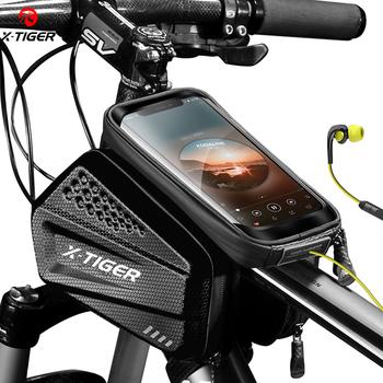 X-TIGER przeciwdeszczowa torba na rower rama rowerowa torba ekran dotykowy futerał na telefon torby na rower MTB rower Top kierownica rurowa torba na rower tanie i dobre opinie CN (pochodzenie) PU+EVA odporne na deszcz X-CB-ES6 1 piece bag order Our accept dropshipping