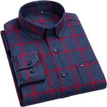 Aoliwen marque 2020 grande taille chemise à carreaux décontracté pour les grands hommes 100% coton à manches longues loisirs mâle vêtements poche chemise sociale