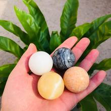 MOKAGY 35mm Four Colors Natural Jade Quartz Ball Crystal Rough Stone Sphere With Wooden Stand 1pc