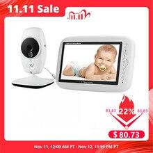 7 Cal bezprzewodowy niania elektroniczna Baby Monitor 720P ekran HD kamera Night Vision domofon kołysanki niania dla dzieci ekran wideo obsługuje ekran przełącznik