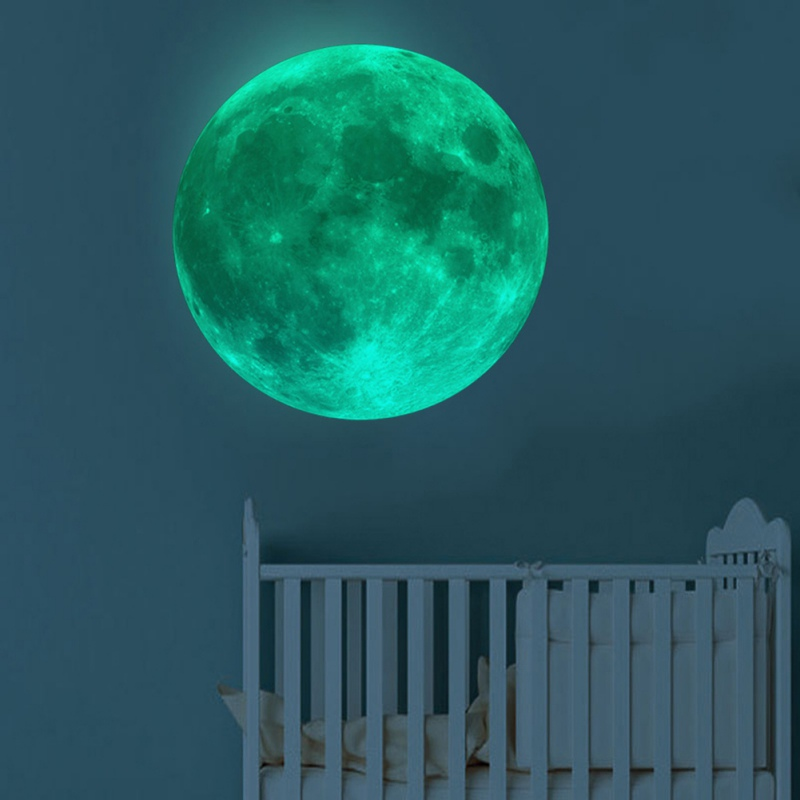 3D Luminous Moon Wall Sticker In Wall Stickers Earth Luminous DIY Fluorescent Wall Sticker Glow In The Dark For Room Decor