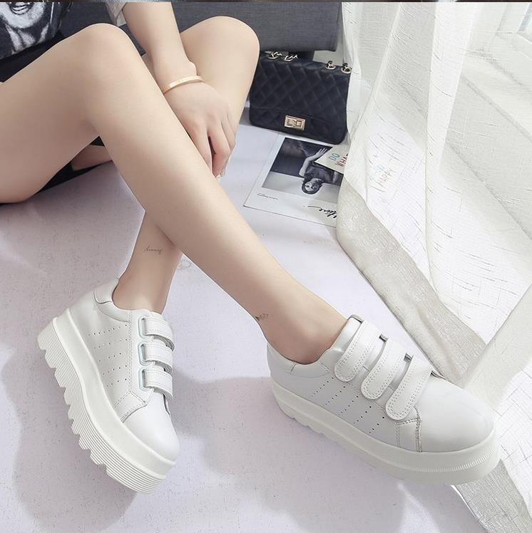 2019 sexy women mesh casual sneakers fall latest fashion wedge heels outdoor casual shoes super confident women platform sneaker in Women 39 s Vulcanize Shoes from Shoes