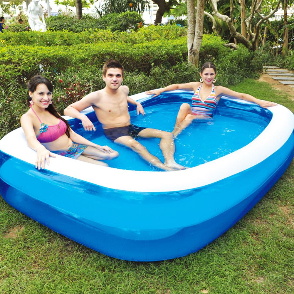 Summer Inflatable Family Kids Children Adult Play Bathtub Water Swimming Pool Large Family PVC Square Floating Swimming Pool