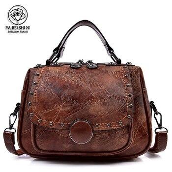 Женские сумки-тоут в стиле Ретро из искусственной кожи