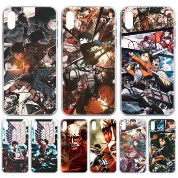 Attack on Titan Levi Rival anime Phone Case cover For iphone 4 4S 5 5C 5S 6 6S PLUS 7 8 X XR XS 11 PRO SE 2020 MAX transparent image