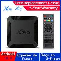X96 Android 10.0 TV box X96Q IPTV Box X96 Q 1G 8G 2G 16G Allwinner H313 Smart Ip Tv m3u Set Top Box nave dalla francia