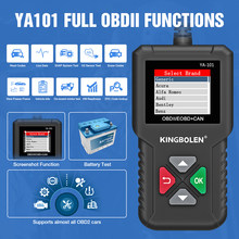 KINGBOLEN YA101 Full OBD2 Scanner Automotive Scanner Engine Analyzer Tool OBDII Code Reader pk ELM327 V1.5 Launch Cr3001