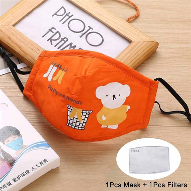 Image 3 - Cotton Mouth Mask For Children Kids Washable Face Mouth Mask Anti