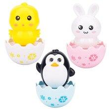 0-3Years Infant Tumbler Sliding Bell Rattle Baby Toys Cartoon Cute Penguin Rabbit Learning Education Toys For Kids Tumbler