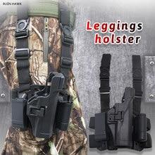 Táctica de la pierna funda para Glock 17 19 22 23 31 32 pistola caso con linterna de caza accesorios caza y pesca funda de pistola