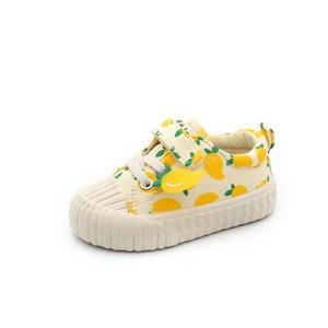 Image 3 - 아기 신발 1 3 세 소프트 솔리드 캔버스 신발 딸기 신발 유아 신발 소녀 신발 2019 가을 새로운