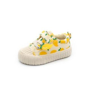Image 3 - Обувь для малышей 1 3 лет; Парусиновая обувь с мягкой подошвой; Обувь с клубничкой; Обувь для малышей; Обувь для девочек; Новинка осени 2019