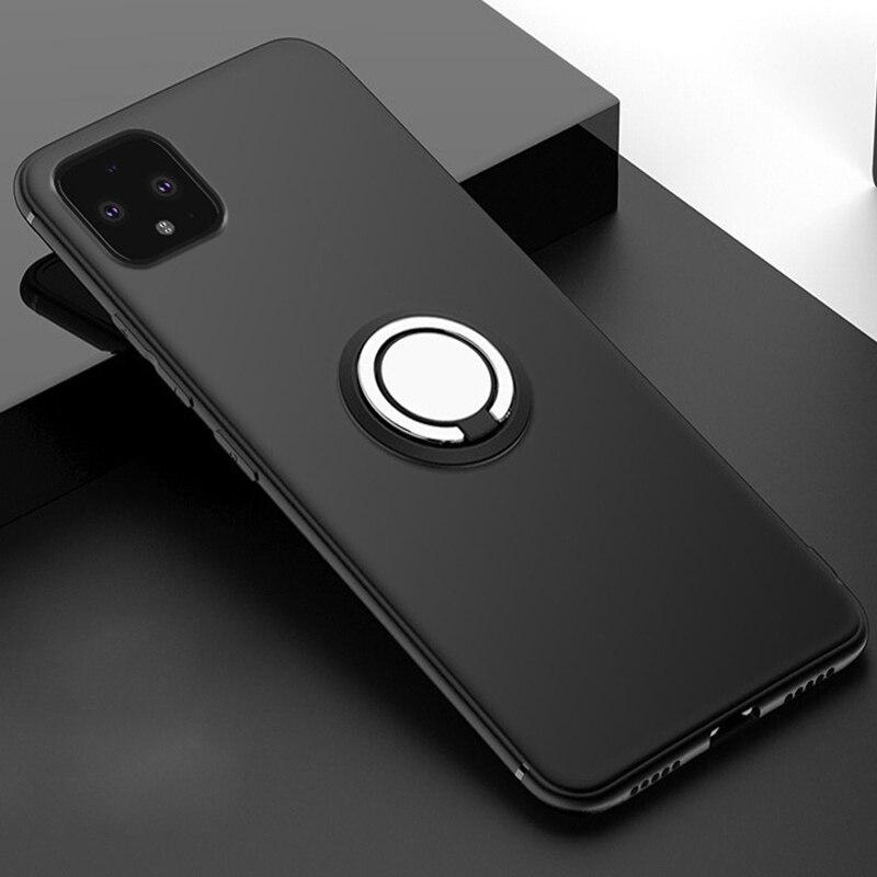 For Google Pixel 4 Case Magnet Car Metal Ring Holder Cover On For Google Pixel 4 XL Pixel4 2 3 3A XL Funda Coque