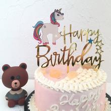 Cupcake Cake-Topper Unicorn Birthday-Party-Decoration Flamingo Baby Shower Girls Kid