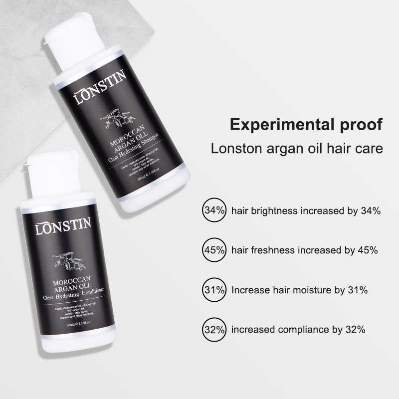 100ML Professional Hair Care Natural Shampoo And Conditioner Free Sulfate Moroccan Argan Oil Hair Treatment Smoothing and Shine