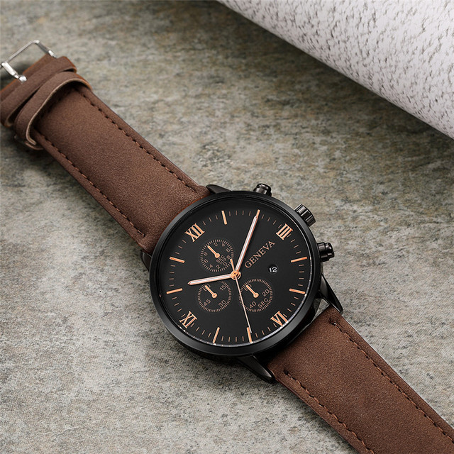 Geneva Synthetic Leather Analog Quartz Sport Watch 4