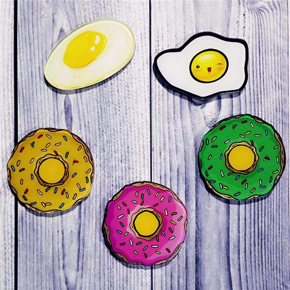 1 Máy Tính DIY Dễ Thương Thức Ăn Kem Sữa Pizza Acrylic Huy Hiệu Trẻ Em Trâm Cài Ve Áo Pin Men Chân Ba Lô Túi phụ Kiện