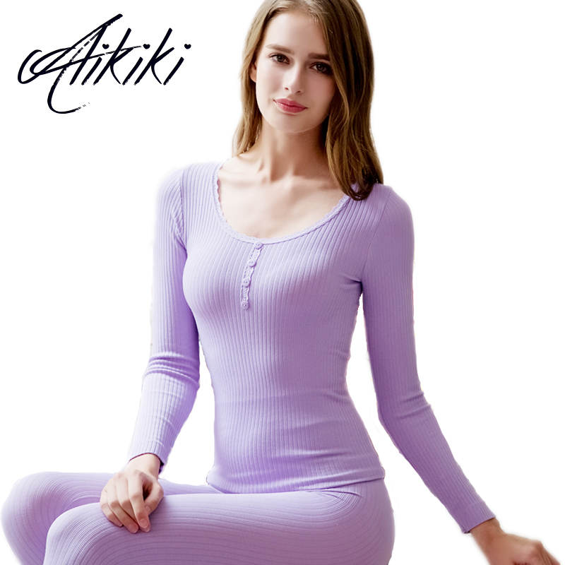 9 Colors Autumn Winter Seamless Thermal Underwear Set Women Breathable Elastic Warm Long Johns Lady Tops Thermal Top And Pants