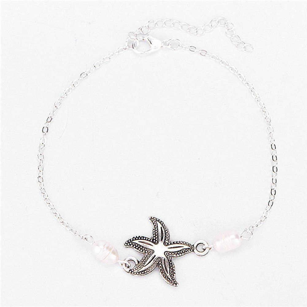 YESMAEA Love Chain Starfish Map Bracelet Boho Layered Anklets Bracelet Party Foot Chain Jewelry for Women