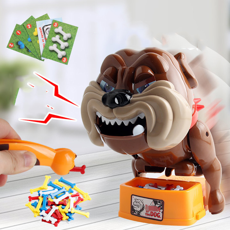 24 Multi-color Bones Careful Evil Dog Board Game Parent-child Toy Stealing Bones Tidy Scary Toy Creative Whole Plastic Dog