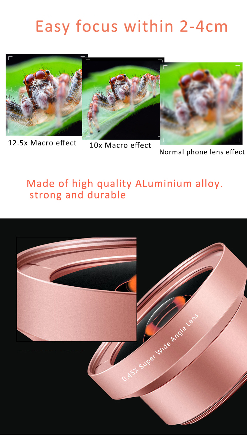 Macro Phone Camera Lens Kit for iPhone Redmi And Samsung And Huawei Phones 3