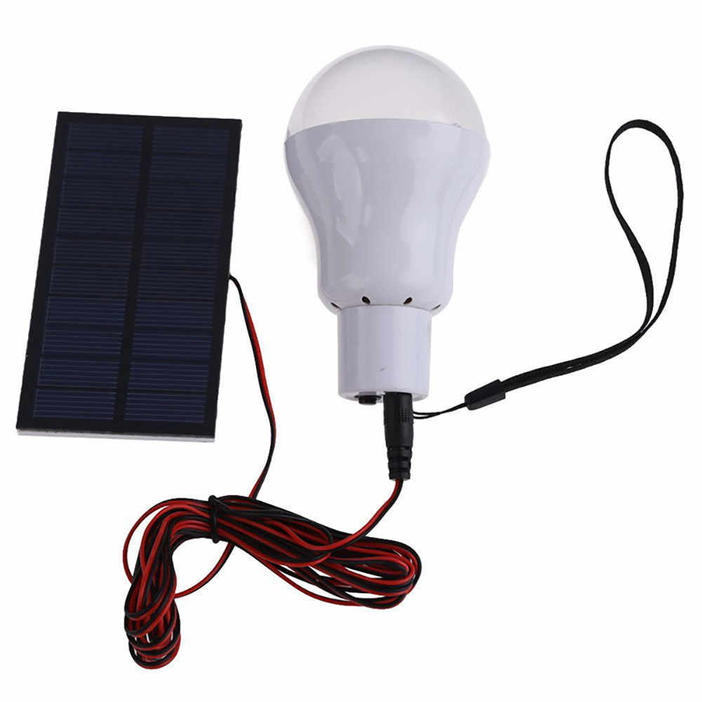15W 130LM Solar Powered หลอดไฟ LED แบบพกพาใหม่ 2019 คุณภาพสูงแบบพกพาพลังงานแสงอาทิตย์ LED หลอดไฟหลอดไฟโคมไฟไฟฉาย