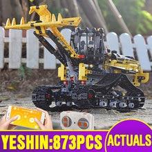 APP Motor fonksiyonu RC yükleyici ile uyumlu 42094 motorlu paletli yükleyici Set RC teknik oyuncaklar çocuklar yapı taşları taşları hediye