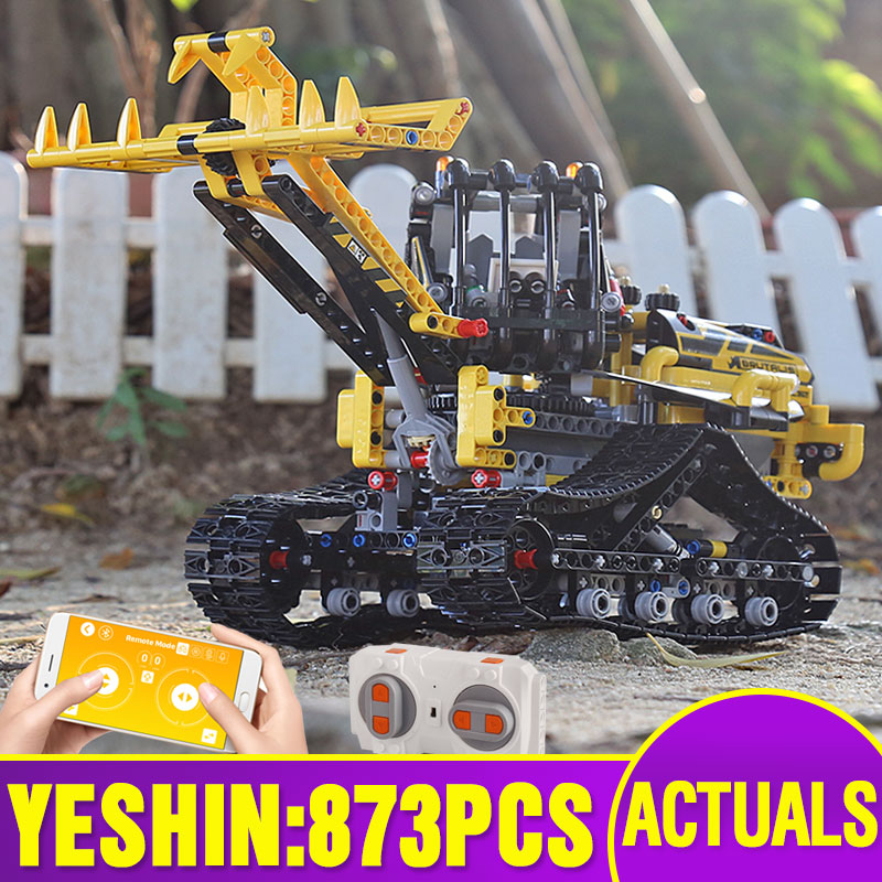 Motor Function RC Loader Compatible With Lepining 42094 Motorized Tracked Loader Set RC Technic Toys Kids Building Blocks Blocks