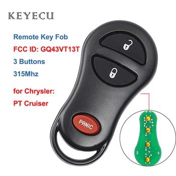 Keyecu 3 Bottoni Keyless Entry Remote Fob Chiave Dell'automobile di 315Mhz per Chrysler PT Cruiser 2001 2002 2003 2004 2005 FCC ID: GQ43VT13T AutoLock Store