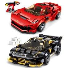 Скоростные чемпионы F8 Tributolys Huracan Super Trofeo автомобиль EVO строительные блоки комплекты кирпичей классическая модель детские игрушки для детей ...